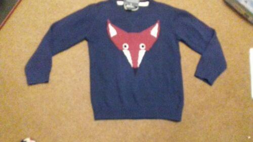 Ragazzi//Ragazze//Bambino Blu//Rosso Maglione Fox CHEROKEE casual comodo età 5-6 NUOVO
