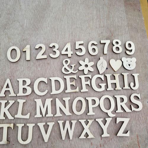 26 A-Z Wooden Freestanding Letters Alphabet Wedding Party Crafts DIY Decor LH