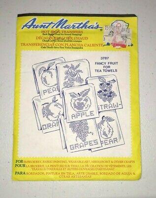 Nip Aunt Martha's Hot Iron On Transfers - Fancy Fruit For Tea Towels #3787