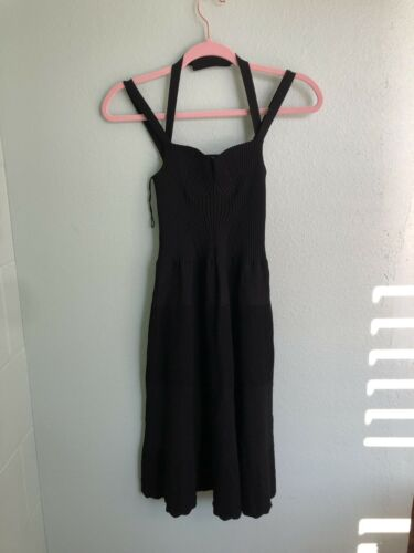 CHANEL Black Dress with Sweetheart Neckline