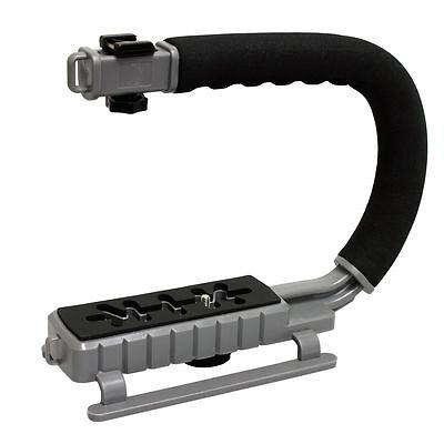 MoonGrip Professional Camera/Camcorder Action Stabilizing Handle - Metallic Grey