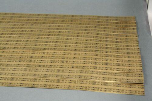 Mehrfarbig Gold 10 Jugendstil Papier Bordüren für z.B Puppenstube Kaufladen