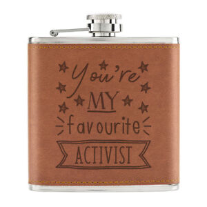 You-039-Re-Mon-Prefere-Activist-Stars-170ml-Cuir-PU-Hip-Flasque-Fauve-Best-Awesome