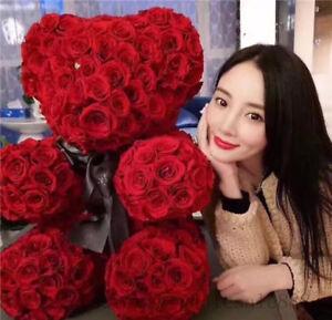 UK NEW Giant large huge big teddy bear rose flower bear toys wedding gift 70cm