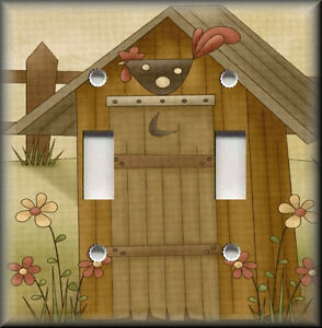 Switch Plate Cover Country Outhouse Primitive Home Decor Bathroom