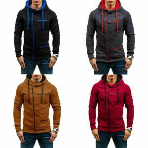 Outwear-Men-039-s-Warm-Hoodie-Coat-Jumper-Winter-Sweater-Sweatshirt-Jacket-Hooded