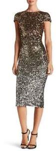 DRESS-the-POPULATION-Black-Gold-Silver-Ombre-Sequin-Marcella-Midi-Stretch-S-4-6
