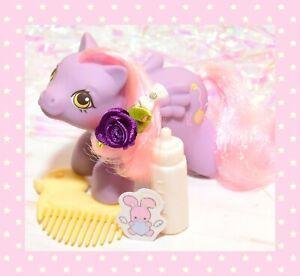 ❤️My Little Pony MLP G1 Vtg Newborn Baby Yo-Yo Duck Comb Bottle Pink Hair❤️