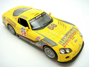 Vintage-Hornby-Slot-Racing-Car-Dodge-Viper-1-32-Head-Tail-Lights-Tested