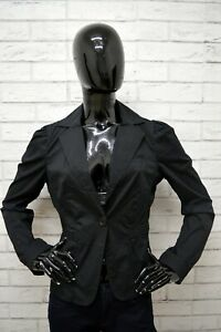 Giacca-BENETTON-Donna-Taglia-Size-XS-Maglia-Blazer-Jacket-Woman-Nero-Cotone