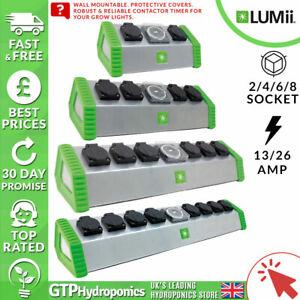 Lumii Contacteur Timers 4/6/8 Way Sockets-grow Light Relay Grasslin-afficher Le Titre D'origine Blanc De Jade