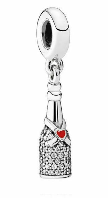 7mm wide x 17mm high 925 Sterling Silver Mini Flat 2-D Wine Bottle Opener Charm Pendant