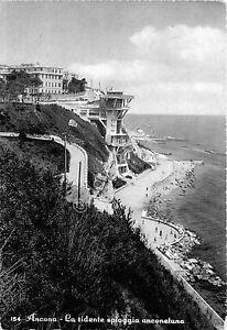Cartolina-Ancona-Spiaggia-dall-039-alto-1959