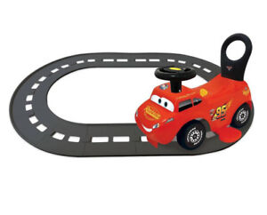 Details About Kiddieland Disney Cars Lightning Mcqueen 3 In 1 Ride On Toy With Track