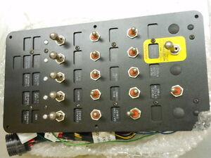 military vehicle dash instrument operating switch panel ... mrap fuse box
