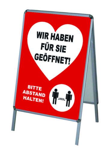 1 PVC-Poster//Plakat-Druck DIN A1 wetterfest für Kundenstopper Corona Geöffnet-3