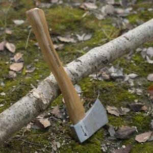 Axe-Hatchet-12in-Chopping-Blade-Cover-Wooden-Handle-Hickory-Outdoor-Garden-Tools