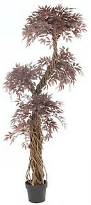 Red-Japanese-Fruticosa-Artificial-Trees-amp-Plants-6ft-Artificial-Topiary-tree