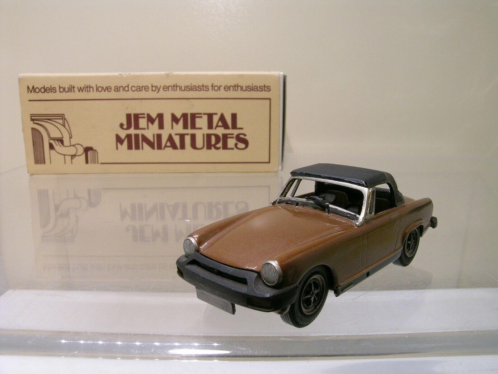 JEM METAL MINI.15 MG MIDGET RUBBER BUMPER 1975 BROWN WHITE-MET.HANDB.+BOX 1 43