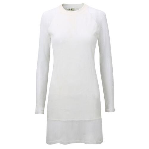 Netz Clubwear Bodycon ! 5316 Damen Kleid Shirt Longshirt Pullover Damenshirt m