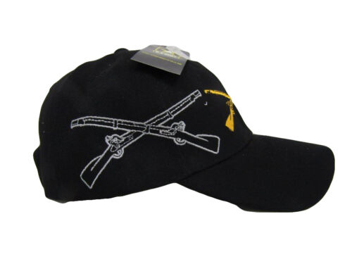 TOPW US Army Infantry Division Rifles Shadow Black Embroidered Cap Hat CAP614