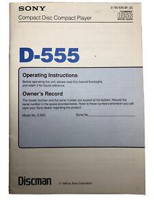 Sony-D-555-Instruction-Manual