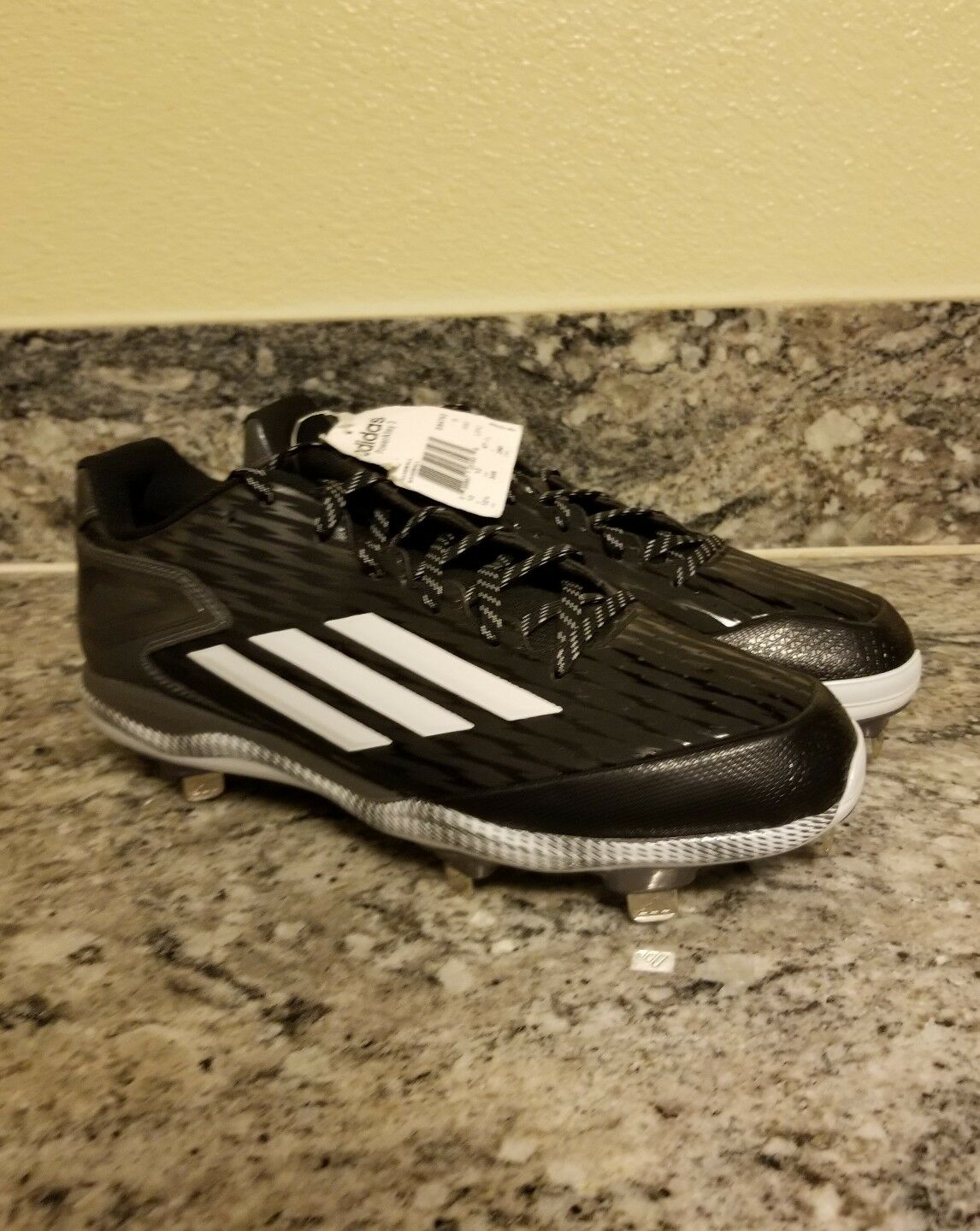Adidas Mens Size 12.5 Cleats Baseball Poweralley 3 shoes METAL S84762