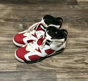 facbc97cb8a 2014 Nike Air Jordan 6 VI Retro BG GS Carmine Red Black White size ...