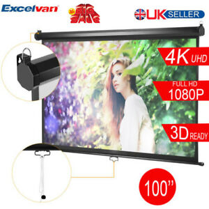 100-039-039-16-9-Projector-Screen-Manual-Pull-Down-Home-Theatre-HD-TV-Projection-3D-UK