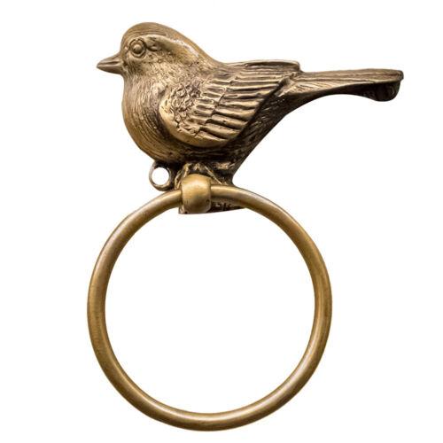 Brass Door Knocker Drop Ring Pull Handle Vintage Style Bird Home Decoration