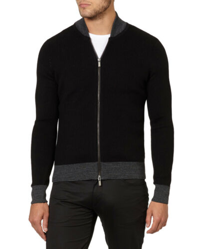 Cardigan Mens B6w23 Cadeau Pour Noir Sweat Slim shirt Jeans Full Lui Zip Fit Armani HnSwxAz1Aq