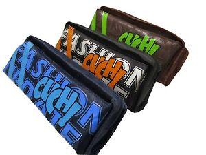 Pencil-Case-DOUBLE-POCKET-Zip-Rectangular-BAG-Large-Assorted-Colour-School