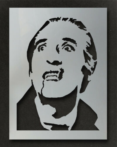 Dracula Christopher Lee Stencil Paint Decorate Walls Furniture Art Fabrics