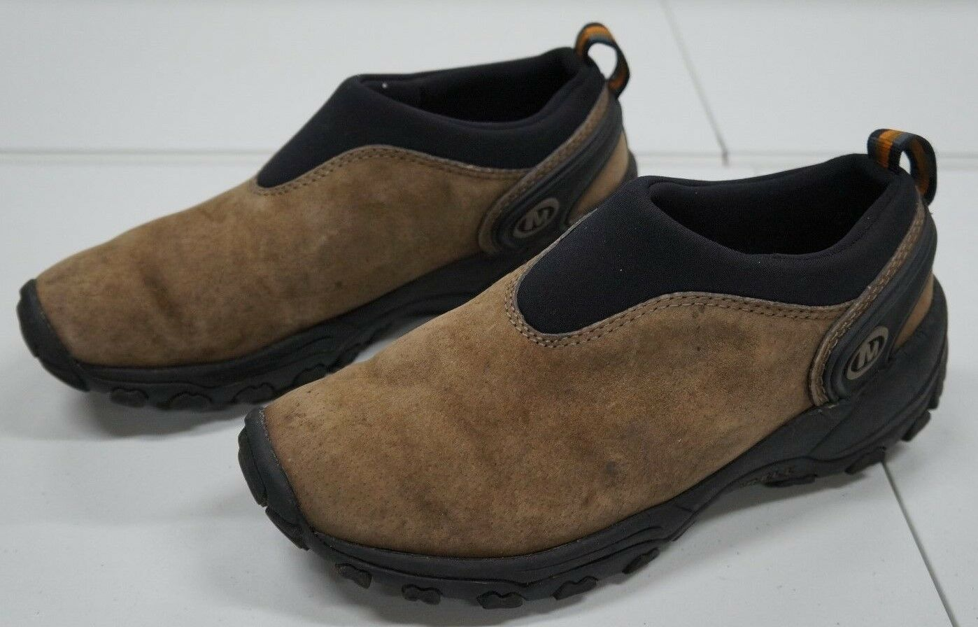 Merrell Womens 7.5 M Brown Slip On Leather Athletic shoes
