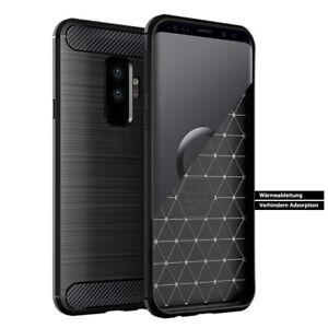 Samsung-Galaxy-S9-S9-Plus-Note-9-Handyhuelle-Case-Etui-Schwarz-Schutz-Tasche
