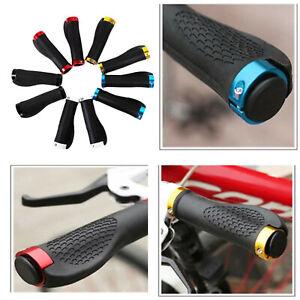 2PCS Bike Mountain Bicycle MTB Handlebar Grips Rubber Handle Grips Anti Slip