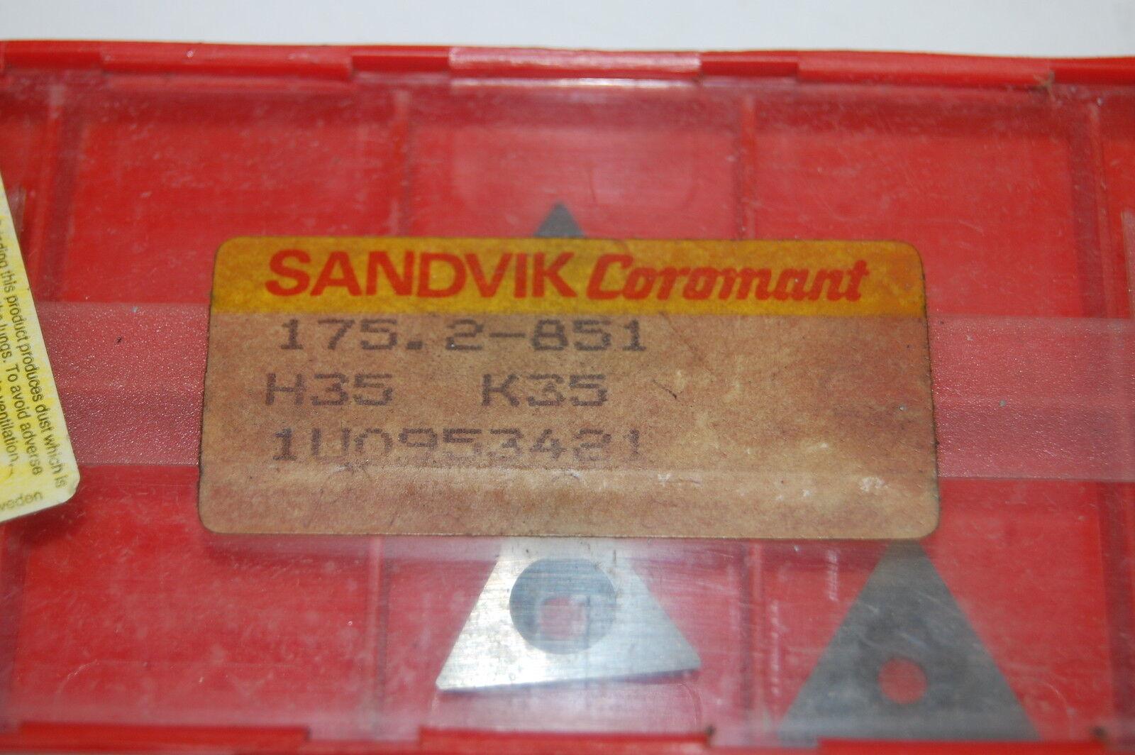 175.2-851 Carbide Shim Sandvik Brand 2pcs