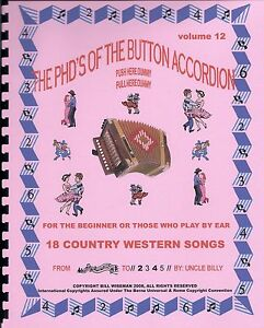Details about BUTTON ACCORDION BOOK, PLAY BY #S,