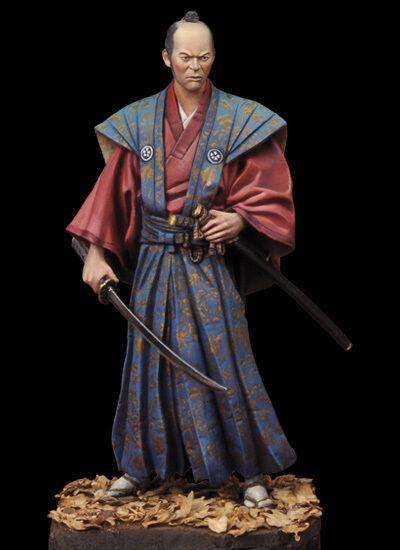 Andrea Miniatures Japanese Samurai Daimyo 1750 75mm Model Unpainted kit
