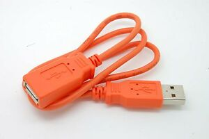 2.5ft  USB 2.0 A Male to A Female Extension Extender Cable New orange 2.5 Feet