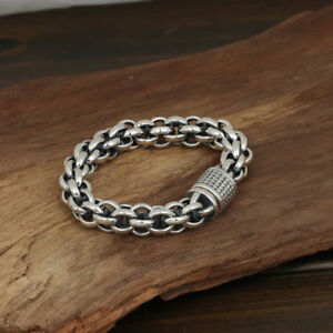 925 sterling silver heavy bangle bracelet handmade men women solid chain heavy