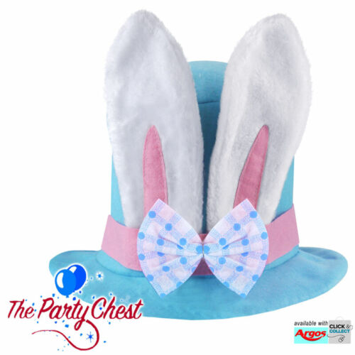 CHILD EASTER BUNNY HAT WITH EARS Novlety Easter Hat Kids Party Accessory 21196
