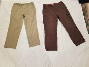 Lote De 2 Pantalones De Vestir Dockers Para Hombre Talla 38x32 Caqui Marron Pantalones Casual Ebay