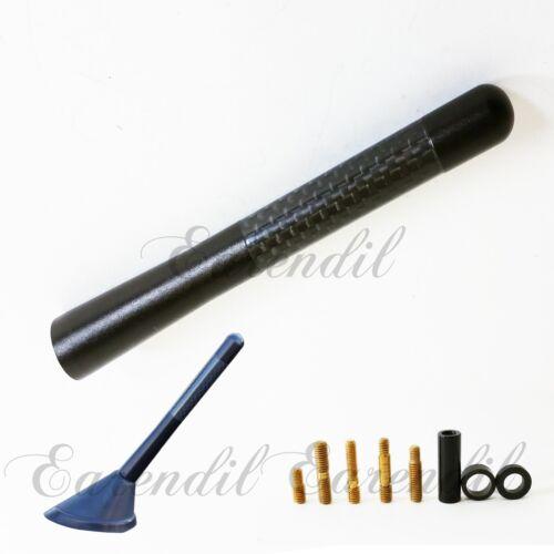 """New 5/"""" Black Universal Aluminum Carbon Fiber Short Radio #Pt3 Antenna Screw Car"""