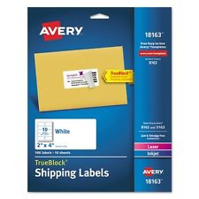 Avery White Ink Jet Mailing Labels - 18163