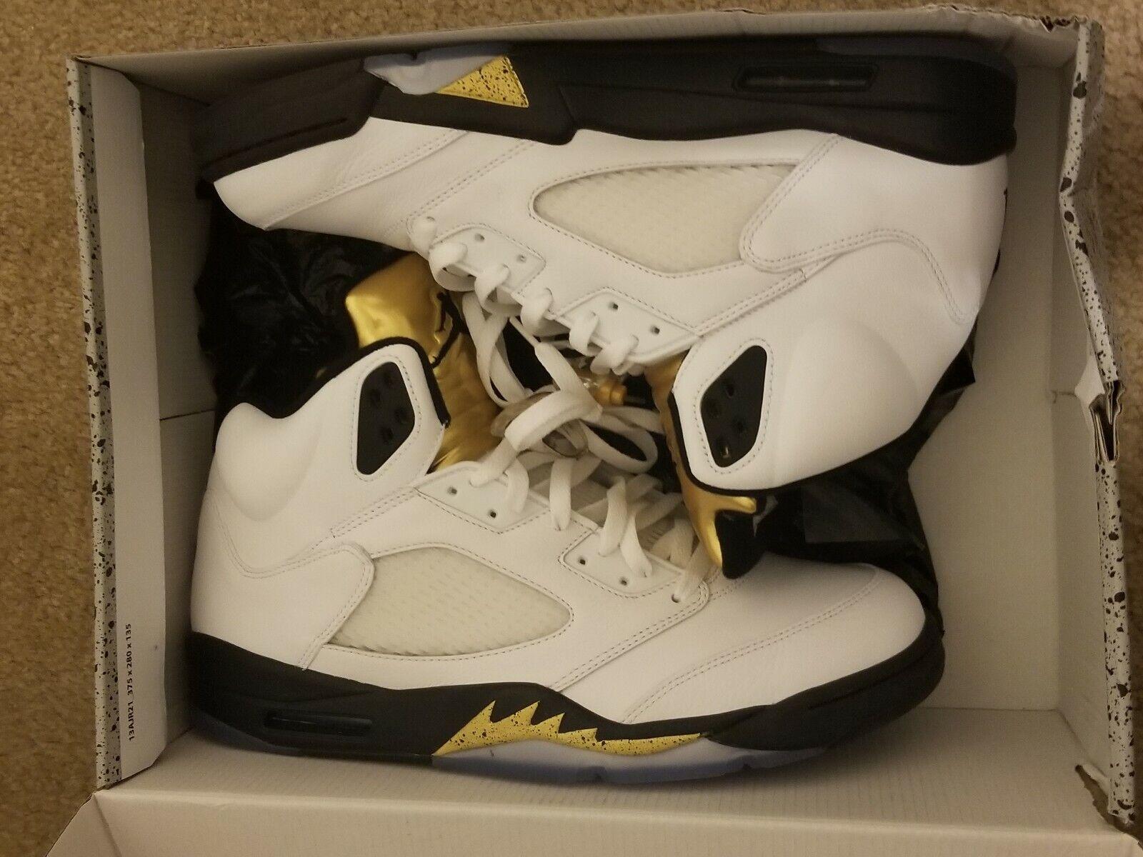Retro Oro Olímpico 5 Air Jordan Zapatillas Ntkelu28 Deportivas QdsrCth