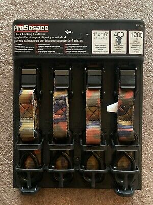 NISP Husky 6 ft Model #FH0898 4-Pack Locking Cam Buckle Tie-Downs x 1 in