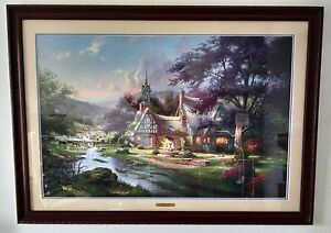 thomas kinkade clocktower cottage limited edition framed print ebay rh ebay com