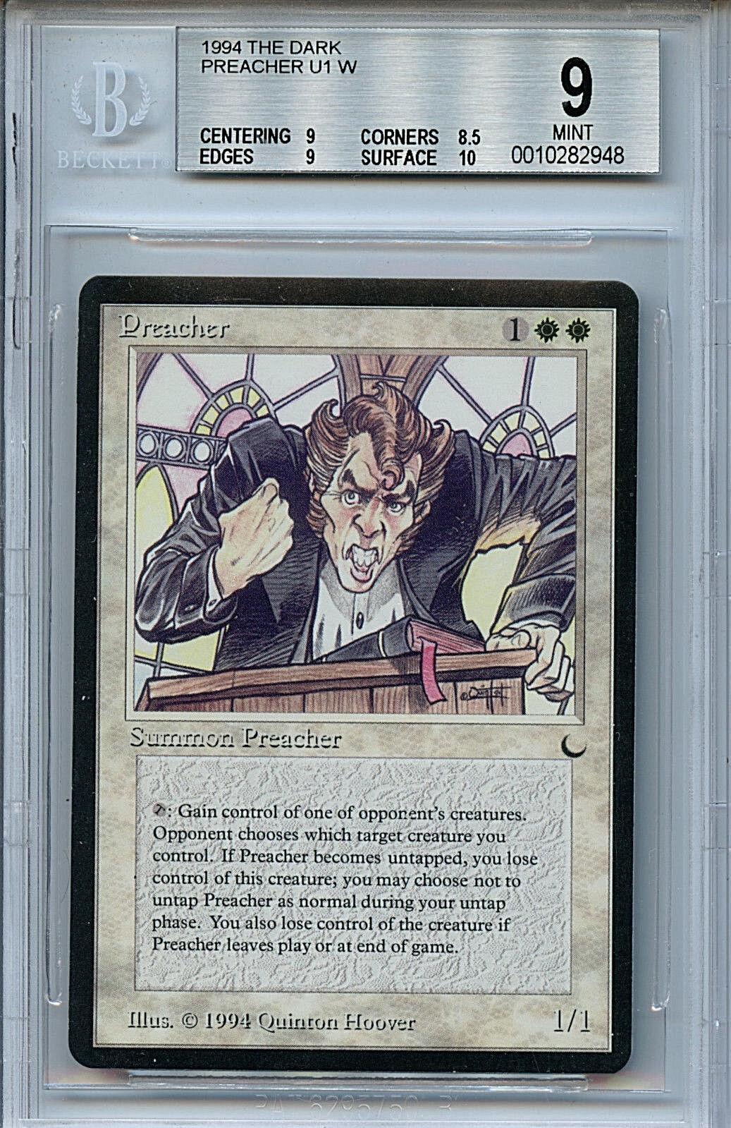 Mtg dunkle protiger bgs 9,0 (9) - karte wotc 2948 magie