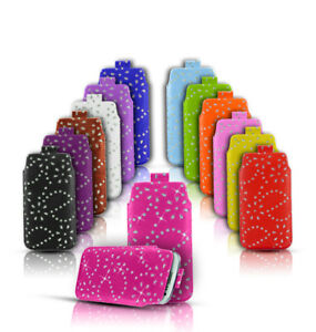 DIAMOND-BLING-GLITTER-LEATHER-PULL-TAB-SKIN-CASE-COVER-POUCH-FOR-VARIOUS-PHONES